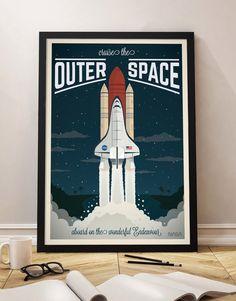 Cartel Vintage Nave espacial, Universo, Viaje, Astronauta, Poster, Travel Poster Vintage, Decoracion, Lamina, Antiguo, Cuadros, Impresiones de GraphicHomeDesign en Etsy https://www.etsy.com/es/listing/281723336/cartel-vintage-nave-espacial-universo