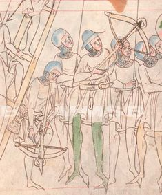 archers, XXIII.C.124 f118r; Národní knihovna České republiky; Praha; Česká republika; Velislavova bible (Biblia picta Velislai), 1340