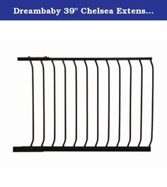 "Dreambaby 39"" Chelsea Extension Finish: Black. F835B Finish: Black Features: -Gate extension. -Fits all Dreambaby Chelsea standard height gates. -Works with pressure mounting. Hardware Finish: -Steel. Material: -Metal. Hardware Material: -Stainless steel. Number of Items Included: -2. Intended Placement: -Stairs,Doorway,Hallway. Dimensions: Overall Height - Top to Bottom: -29.5"". Overall Width - Side to Side: -39"". Overall Depth - Front to Back: -2"". Overall Product Weight: -11 lbs."