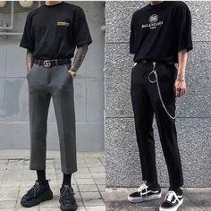 Korean Fashion – How to Dress up Korean Style – Designer Fashion Tips Edgy Outfits, Retro Outfits, Vintage Outfits, Fashion Outfits, Korean Fashion Men, Korean Street Fashion, High Fashion, Fashion Photo, Style Fashion