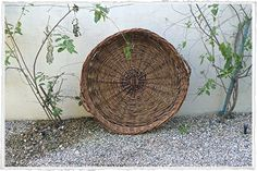"Huge 36"" dia. Vintage harvest baskets from France.  www.olmayhome.com"