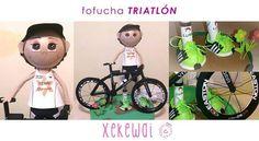 Fofucha equipada para participar en triathlones!!