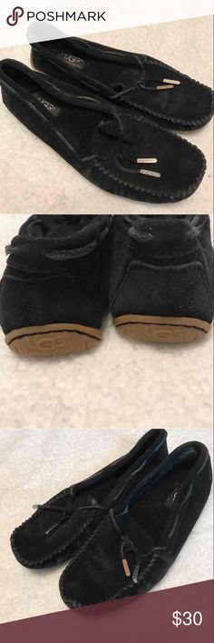 UGG Shoes Size 6.5  UGG Australia  black suede  Great lightly worn condition UGG Shoes Flats & Loafers