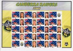FLASHBACK: The 2001 Canberra Raiders team... on stamps!