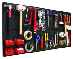 Ok, so we've mentioned pegboards a few times but they are honestly the easiest and most efficient way to organize garage items. You just have to hang the board on the wall and add the included hardware for storing just about anything. Some systems even include hooks and small bins to keep you completely organized from start to finish. Via: Amazon.com – The Bulldog Hardware 131588 Peg-A-System Ultimate Kit