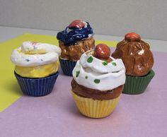 Fun ceramic cupcakes
