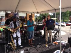 Center Stage Band groovin' Matt's Great8 Tailgate in support of Feedmore & 100K Meals!
