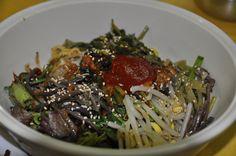 산나물 보리밥 비빔밥...경동시장 상가 지하에 있는 보리밥집...홍어무침과 함께