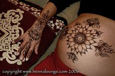 Henna for a pregnant belly by HennaLounge, via Flickr