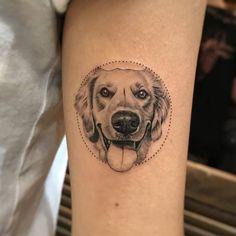 Small Dog Tattoos, Cat And Dog Tattoo, Tiny Tattoos For Girls, Symbol Tattoos, S Tattoo, Sleeve Tattoos, Circle Tattoos, Mini Tattoos, Tattoo Pitbull