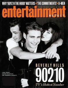 Luke, Alongside Shannen & Jason, Graced The Cover Of Entertainment Weekly Magazine In Shortly After Beverly Hills 90210 Started To Really Become A Huge Pop Culture Phenomenon. Beverly Hills 90210, Serie Charmed, Jason Priestley, Divas, Teen Shows, Shannen Doherty, Luke Perry, Jennie Garth, Entertainment Weekly