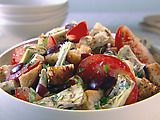 Artichoke and Tomato Panzanella.  Giada De Laurentiis...need to try this one!