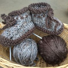 Worsted Weight Baby Booties
