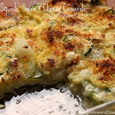 Zucchini, Squash, Onion and Cheese Casserole - A Low Carb Side Dish