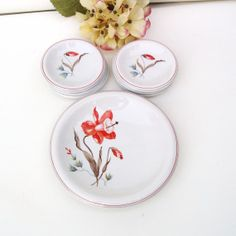 Vintage German Dishes Bread and Butter Plates by WhimzyThyme, $38.95