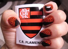 Unhas Decoradas Flamengo