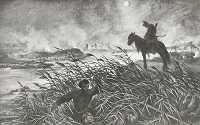 Przeprawa Skrzetuskiego przez staw 1886.