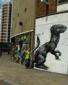 Roa's Summer: Part II, London - unurth Urban Art, Graffiti, London, Artist, Summer, Image, Street, City Art, Summer Time