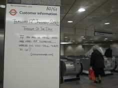 Angel Tube - Thought of the Day - 12th January 2012 by Annie Mole, via Flickr