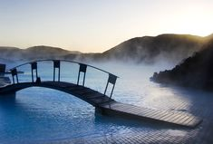 One of the 25 wonders of the world: Blue Lagoon Geothermal Spa! About 45 minutes away from Reykjavik, this spa is a must see.