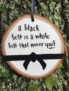 Black Belt Holiday Ornament // Martial Arts Ornament // Black Belt Wood Ornament // Black Belt // Karate // Jiu Jitsu // Aikido // Judo by PolishTheStone on Etsy https://www.etsy.com/listing/541700596/black-belt-holiday-ornament-martial-arts
