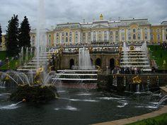 Большой Петергофский дворец, Петергоф - дворцы, Петергоф, Россия, Peterhof Palace, Russia