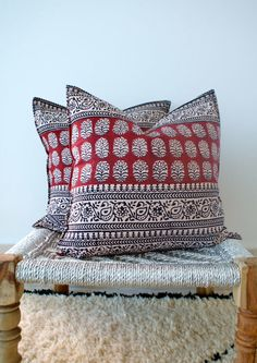 Love these block pillows