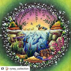 Gorgeous!#Repost @ryney_collection with @repostapp #florestaencantada #selvamagica Might follow my - desenhoscolorir