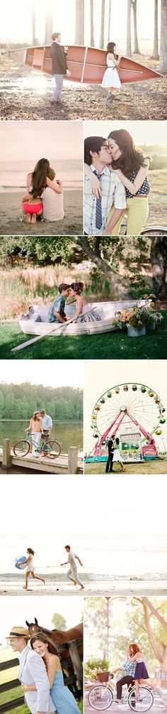 24 Beautiful Summer Engagement Photos. The carnival one is my favorite of these.