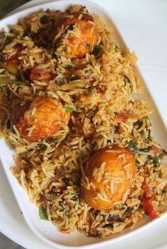 - YUMMY TUMMY: Street Food Style Egg Biryani Recipe – Thattukada Muttai Biryani Recipe Source by aglchia - Spicy Recipes, Asian Recipes, Vegetarian Recipes, Cooking Recipes, Healthy Recipes, Easy Veg Recipes, Cooking Tips, Egg Recipes Indian, Indian Dishes