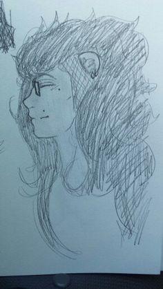 Random Löwin doodle in the car. (Hadrah Foresworn)