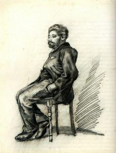 Seated Man with a Beard - Vincent van Gogh