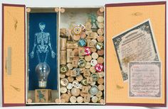 Skeleton's in the Closet, from book artist Kerry McAleer Keeler