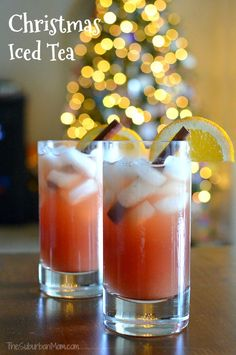 Christmas Iced Tea - the perfect blend of Christmas flavors to serve with your Christmas meals. (Bonus, your house will smell AMAZING when you make it.) Ad