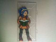 Levy McGarden - Fairy Tail perler beads by TehMorrison Pixel Art Templates, Perler Bead Templates, Diy Perler Beads, Perler Bead Art, Perler Patterns, Anime Crafts, Kawaii Crafts, Gajeel Y Levy, Crochet Fairy