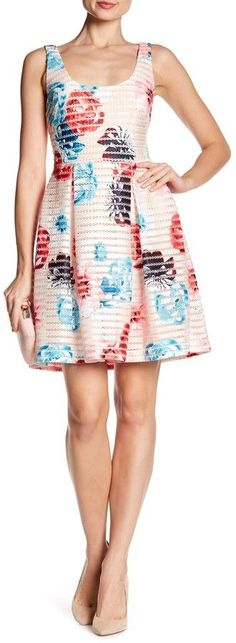 GUESS Floral Stripe Dress