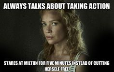 """Andrea from """"The Walking Dead"""" summed up in 31 pictures... hahaha!"""