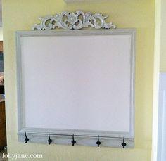 DIY- the prettiest white board ever