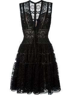 Elie Saab embroidered flared dress