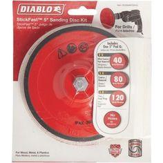 Diablo StickFast Sanding Disc Kit, Silver
