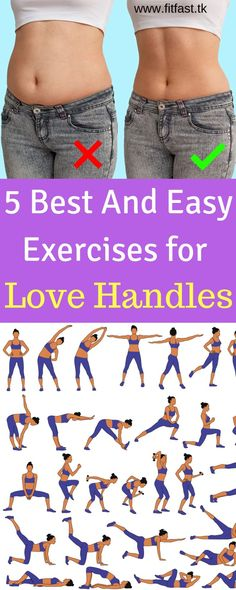 Love handle workout - 5 Best And Easy Exercises for Love Handles Fitness Workouts, Sport Fitness, Easy Workouts, Health Fitness, Exercise Cardio, Butt Workouts, Health App, Back Fat Workout, Belly Fat Workout