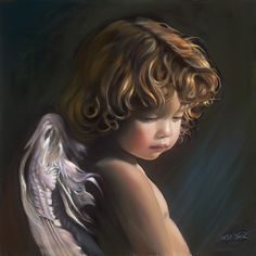 Angel Looking Down by Nancy Noel Judy August 2016 ❤️ Angel Images, Angel Pictures, Beautiful Angels Pictures, Entertaining Angels, Angel Artwork, I Believe In Angels, Angels In Heaven, Heavenly Angels, Angels Among Us