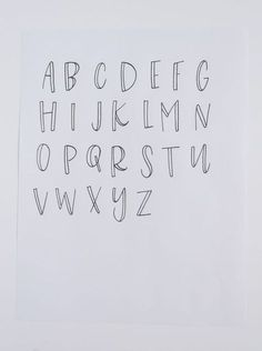 Post - Kiley in Kentucky Here, I am sharing the three tips I wish I had received when I began hand-lettering! These are 3 simple ideas that can change your outlook on lettering, and what it means to be a hobbyist vs. a lettering guru! Hand Lettering Alphabet, Brush Lettering, Beginner Hand Lettering, Cute Fonts Alphabet, Doodle Lettering, How To Hand Lettering, Bullet Journal Fonts Hand Lettering, Abc Font, Doodle Alphabet