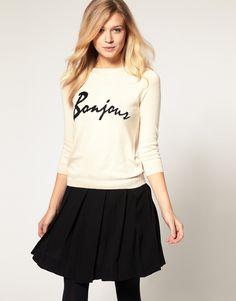 bonjour sweater / asos... too cute