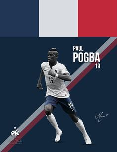 Poster design of one of the best young talents in football (Paul Pogba) who will be taking part of the Euro 2016 this summer.