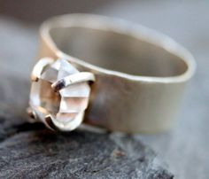 Herkimer Band Ring. Oh my heck, i love this!