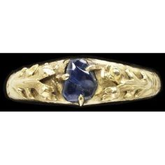 15th c gold and sapphire ring