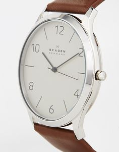 Skagen Leather Strap Watch SKW6150