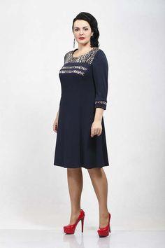 Платья для полных женщин фото осень