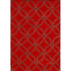 Handmade of beautiful New Zealand wool, this rug features a striking geometric pattern. Rich colors of red and taupe highlight this rug.